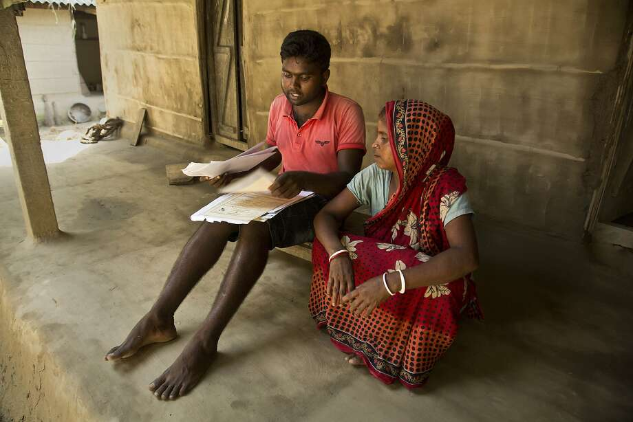 Pranab Mandal and his mother Ramani Mandal were left off the registry of citizens in Mayong. Photo: Anupam Nath / Associated Press