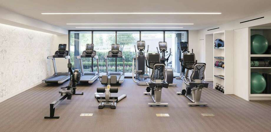 The River Oaks offers 24-hour access to its fitness room and equipment.