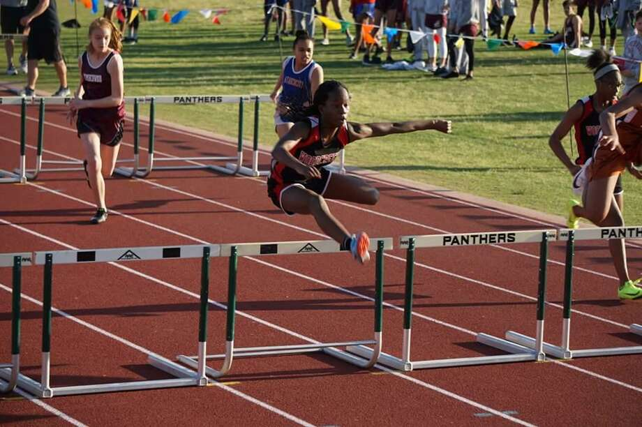 Lashavia Barclay, an eighth grader at Woodcreek Middle School, won a gold medal in the 200 meter hurdle in the 2018 Junior Olympics. Barclay runs for Titans Track as well the Woodcreek Middle School track team. Photo: Courtesy: Rocole Barclay