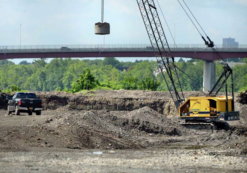 Center or Starbuck Island is being cleared and prepared for construction of new housing, retail and restaurants Thursday August 9, 2018 in Green Island, NY. (John Carl D'Annibale/Times Union)