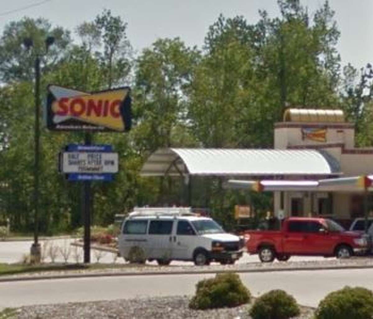 Sonic 370 East Highway 105 Score: 97 Violations: Dirty can opener, dirty monitors and poles, dirty drain grate.