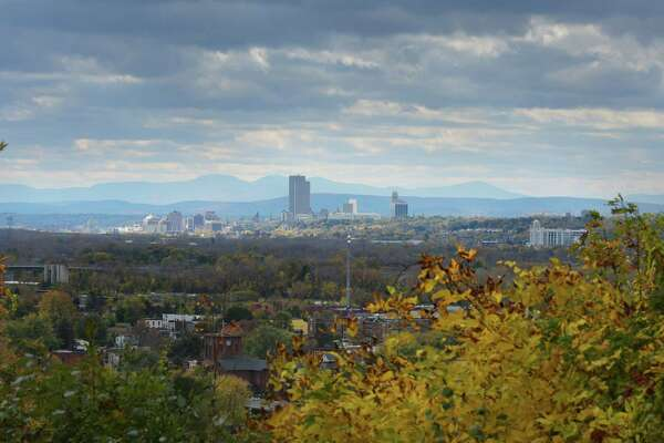 A view of the city of Albany from Prospect Park on Monday, Oct. 24, 2016, in Troy, N.Y. (Paul Buckowski / Times Union)