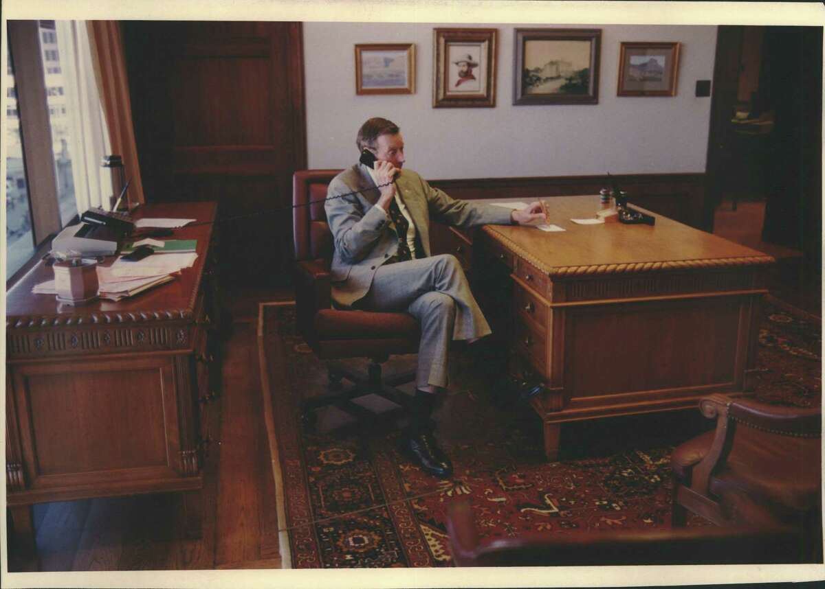 Tom C. Frost Jr. is on the telephone in this undated photo.