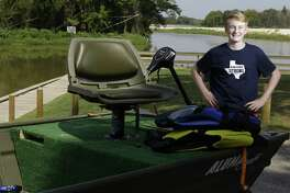 Brayden Moseley, 15, of Kingwood used his fishing boat to rescue families after Hurricane Harvey hit.