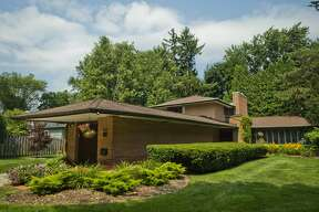 The home at 919 E. Park Dr. was designed by famed Midland native and architect Alden B. Dow and will soon be back on the market. The 2,200-square-foot home features three bedrooms and two baths, two outdoor patios and a wood burning fireplace. (Katy Kildee/kkildee@mdn.net)