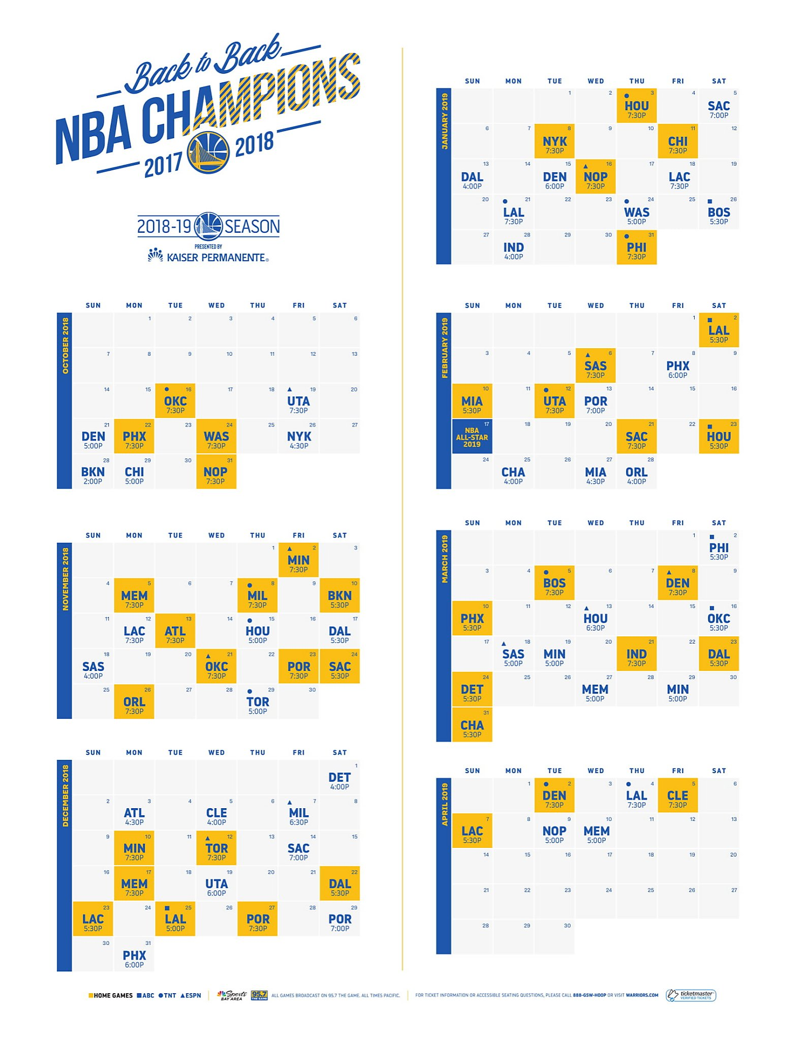 picture about Warriors Schedule Printable identify 5 takeaways versus Warriors 2018-19 plan -
