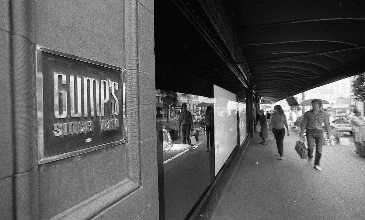 Exterior photos of Gump's on Post Street, October 22, 1983