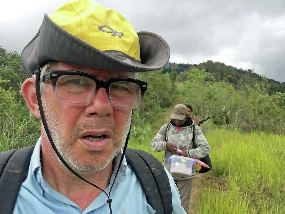 "Scott Tucker says: ""My look of disgust after hiking 10 hours in one day."" Photo: Contributed Photo / Contributed Photo / New Haven Register contributed"