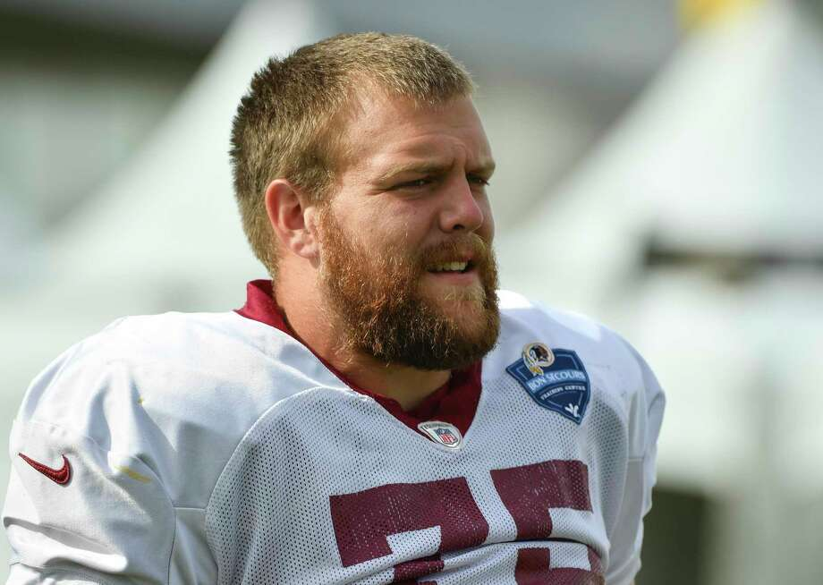 Redskins guard Brandon Scherff was selected with the No. 5 overall pick in the 2015 draft. Photo: Washington Post Photo By Ricky Carioti / The Washington Post