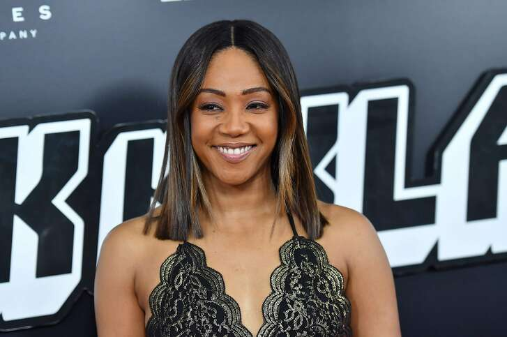 US actress Tiffany Haddish attends the 'BlacKkKlansman' New York Premiere at BAM Harvey Theater on July 30, 2018 in Brooklyn, New York. / AFP PHOTO / ANGELA WEISSANGELA WEISS/AFP/Getty Images