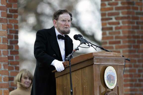 James Getty, portraying President Abraham Lincoln, recites the Gettysburg Address during a ceremony commemorating the 150th anniversary of the historic speech Nov. 19, 2013, in Gettysburg, Pa. A reader says the words in the address have meaning today.