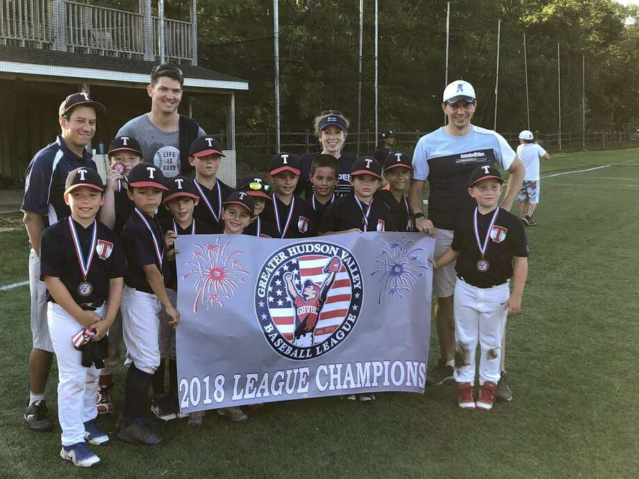 The Old Greenwich Riverside Community Center 8-under Thunder Blue baseball team won the Greater Hudson Valley Baseball League Championship recently in Yorktown, N.Y. Photo: Contributed Photo / Contributed Photo / Stamford Advocate Contributed
