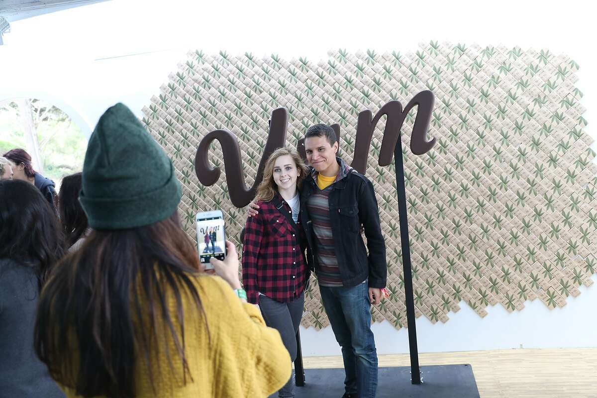 Kiva�Confections provided free cannabis-free samples of its chocolates and mints at Outside Lands' Grass Lands exhibit.