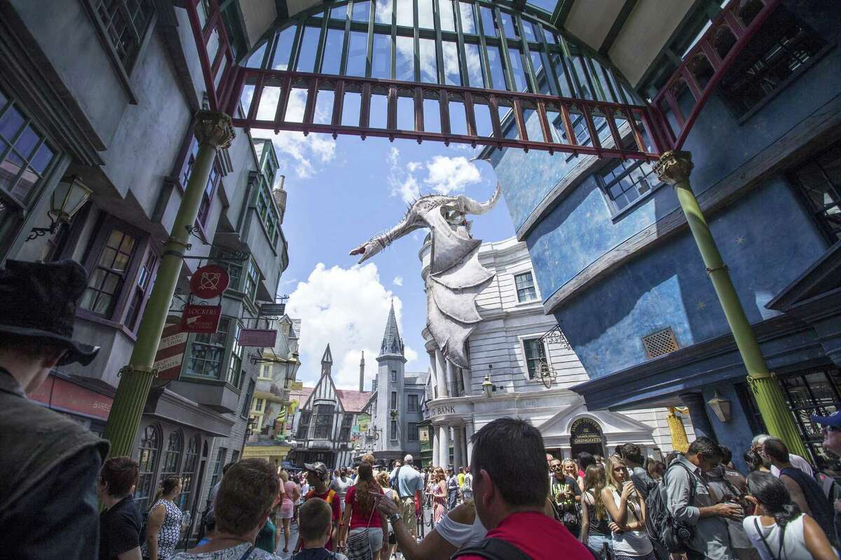 The Wizarding World of Harry Potter at Universal Orlando is constantly packed. Patience is a virtue, especially here.