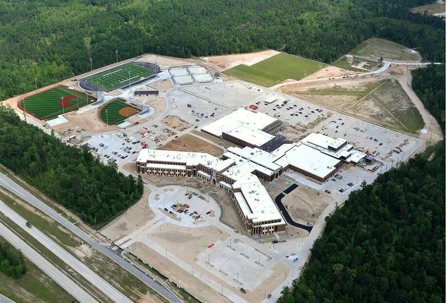 An aerial shot shows Grand Oaks High School, which is  scheduled to enroll about 1,250 students this fall. Photo: Conroe ISD / Conroe ISD