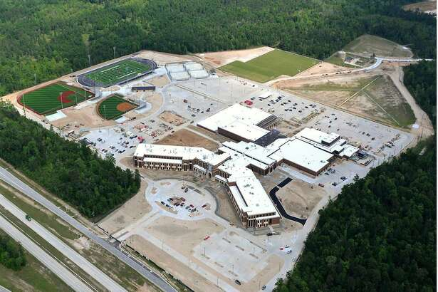 An aerial shot shows Grand Oaks High School, which is scheduled to enroll about 1,250 students this fall.