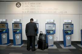 View of he Global Entry computers at the U.S. Customs and Border Protection at the San Francisco International airport on Thursday, July 26, 2018 in San Francisco, Calif.