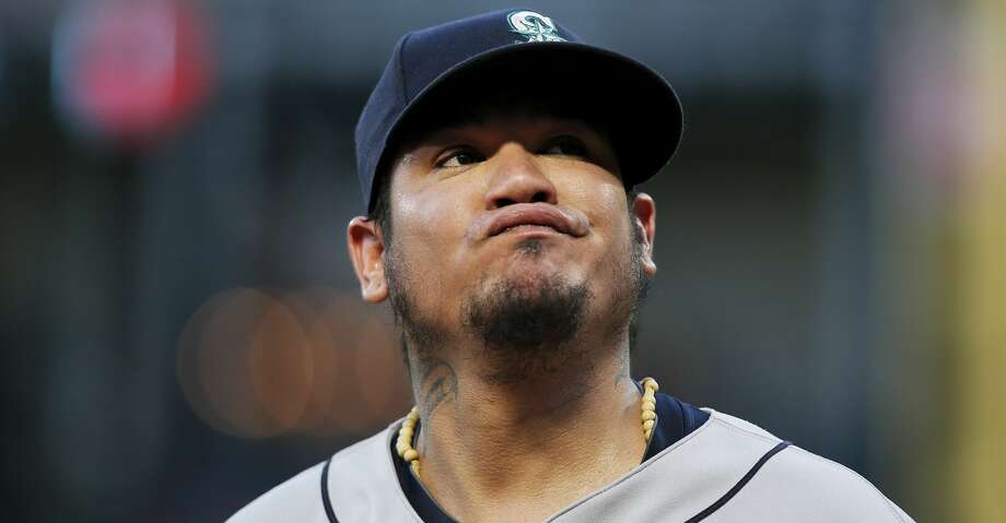 PHOTOS: Astros game-by-game Seattle Mariners starting pitcher Felix Hernandez reacts after allowing a soft bunt-single by Texas Rangers' Carlos Tocci during the third inning of a baseball game Tuesday, Aug. 7, 2018, in Arlington, Texas. The Rangers won 11-4. (AP Photo/Brandon Wade) Browse through the photos to see how the Astros have fared in each game this season. Photo: Brandon Wade/Associated Press