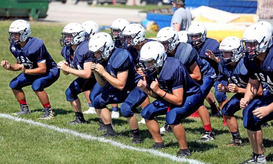 USA Football Practice 2018 Photo: Paul P. Adams/Huron Daily Tribune