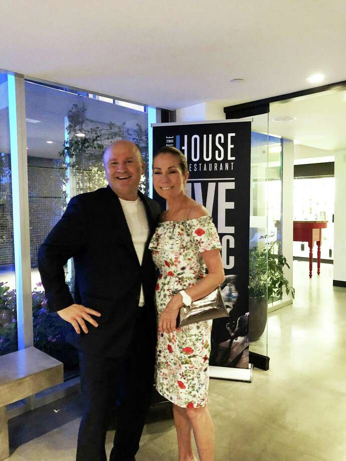 Tony Capasso, food and beverage manager of the JHouse in Riverside, poses with 'Today' show co-host Kathie Lee Gifford at the JHouse last weekend. Photo: Contributed /