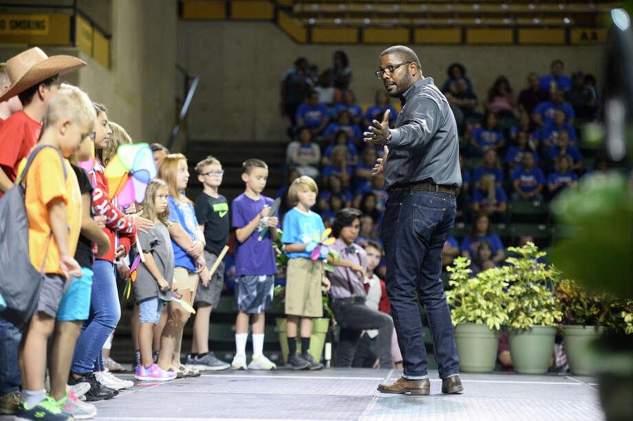 MISD Superintendent Orlando Riddick speaks during the MISD Convocation Aug. 10, 2018 at Chapparal Center. James Durbin/Reporter-Telegram Photo: James Durbin / ? 2018 Midland Reporter-Telegram. All Rights Reserved.