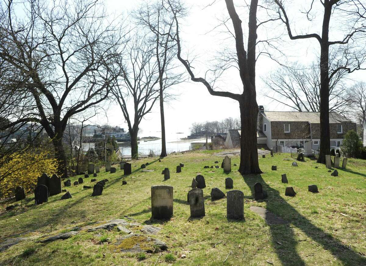 The Old Burying Ground at Byram Shore seen here is also the location of the Lyon cemetery and is also adjacent to the African American cemetery in the Byram section of Greenwich, Conn., Saturday, April 15, 2017.
