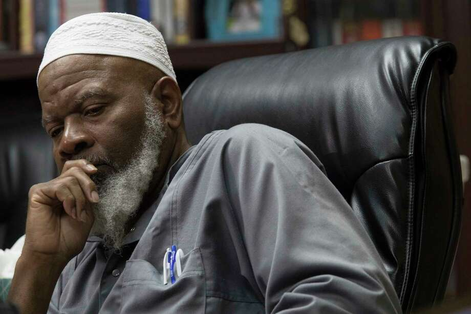 Imam Siraj Wahhaj speaks to reporters, Thursday, Aug. 9, 2018, in New York. Wahhaj, the grandfather of a missing Georgia boy,  says the remains of the child were found buried at a desert compound in New Mexico. Abdul-ghani Wahhaj was found Monday, on what would have been his fourth birthday, after he went missing in December in Jonesboro, Ga. near Atlanta.  (AP Photo/Mary Altaffer) Photo: Mary Altaffer / Copyright 2018 The Associated Press. All rights reserved.