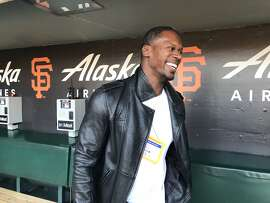 Former Giants outfielder Fred Lewis visited AT& Park on Aug. 10, 2018.