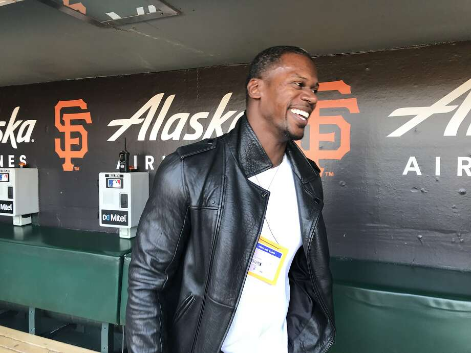 Former Giants outfielder Fred Lewis visited AT&T Park on Aug. 10, 2018. Photo: John Shea / The Chronicle