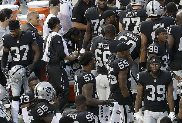 8a777848d Raiders  Marshawn Lynch sits during national anthem - SFChronicle.com