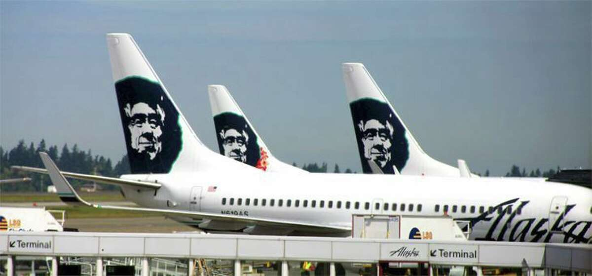 FILE PHOTO: Alaska Airlines planes. A flight leaving San Francisco International Airport for New Orleans was diverted to Los Angeles Sunday afternoon.