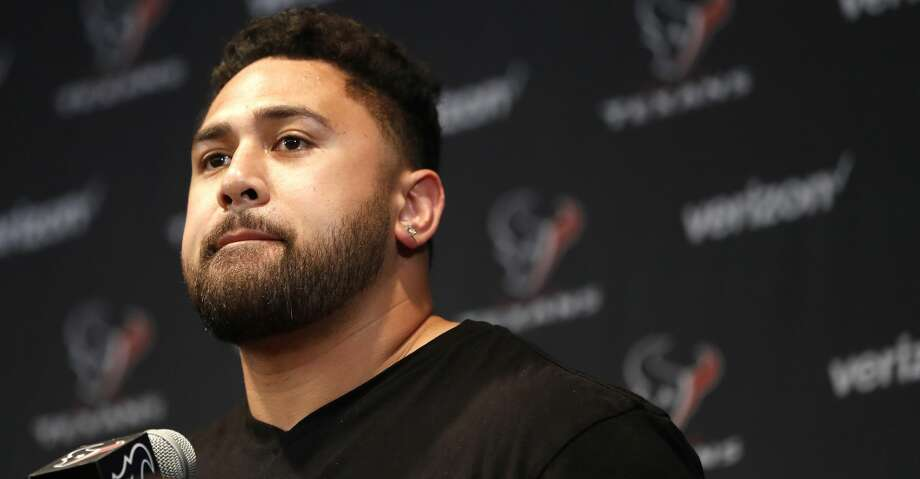 PHOTOS: Texans training camp Senio Kelemete speaks to the media as the Texans held a press conference to introduce their new free-agent signees at NRG Stadium, Thursday, March 15, 2018, in Houston.  ( Karen Warren / Houston Chronicle ) Browse through the photos to see action from the Texans' return to camp at the Methodist Training Center. Photo: Karen Warren/Houston Chronicle