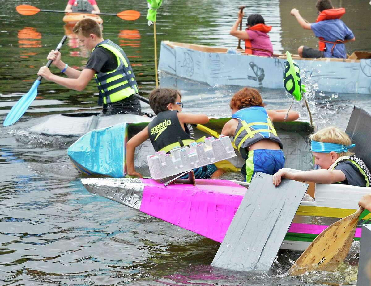 On Saturday, competitors take to the Hudson River in the annual Cardboard Boat Race at Fort Hardy Park beach in Schuylerville. (The rain date is Sunday.) Details.