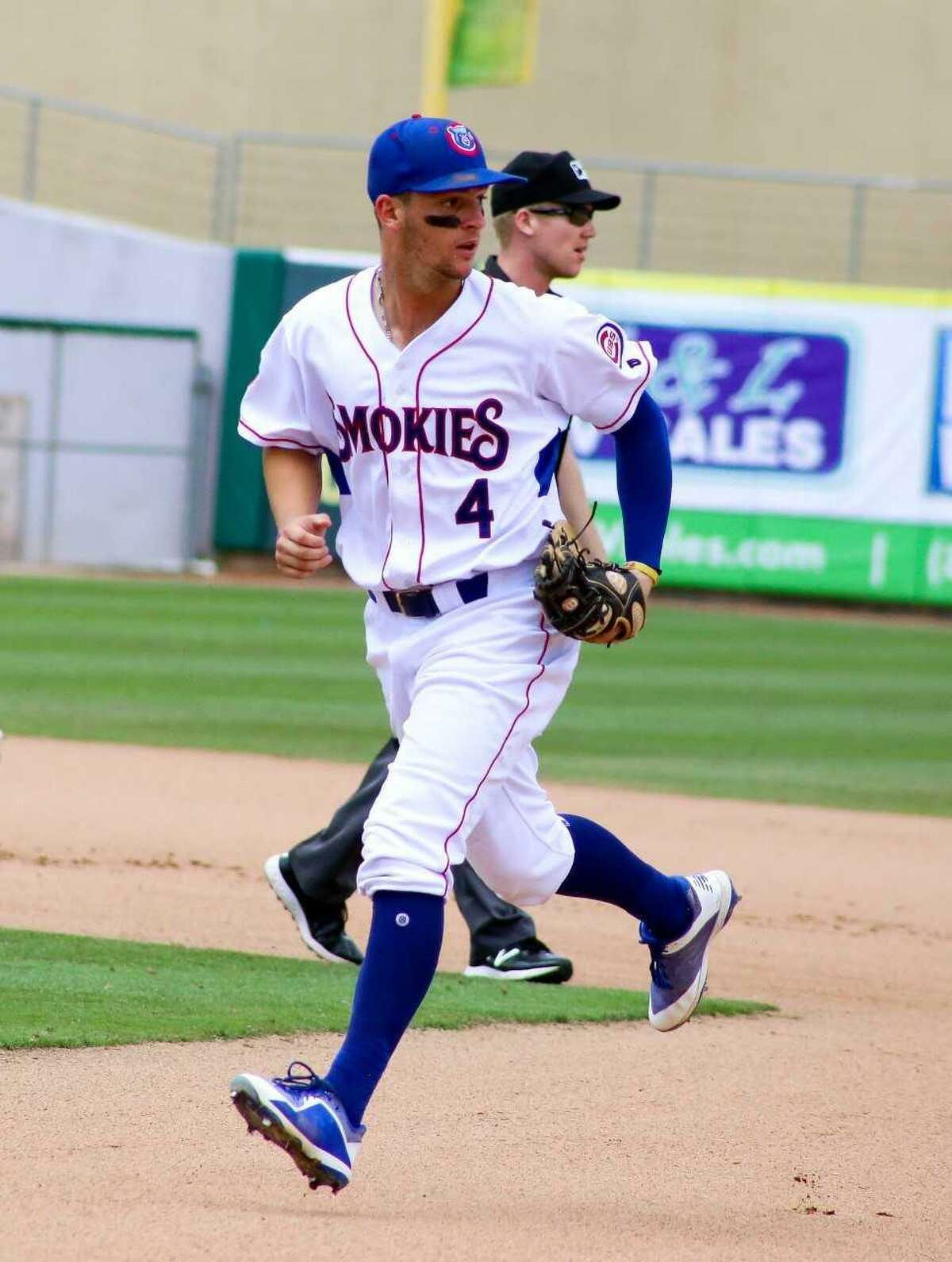 Zack Short leads all Southern League shortstops with 13 homers, 49 RBIs and 24 doubles with the Tennessee Smokies, Double-A affiliate of the Cubs.