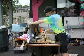 People crowded the streets of Caseville Saturday for the 20th annual Cheeseburger in Caseville Festival.