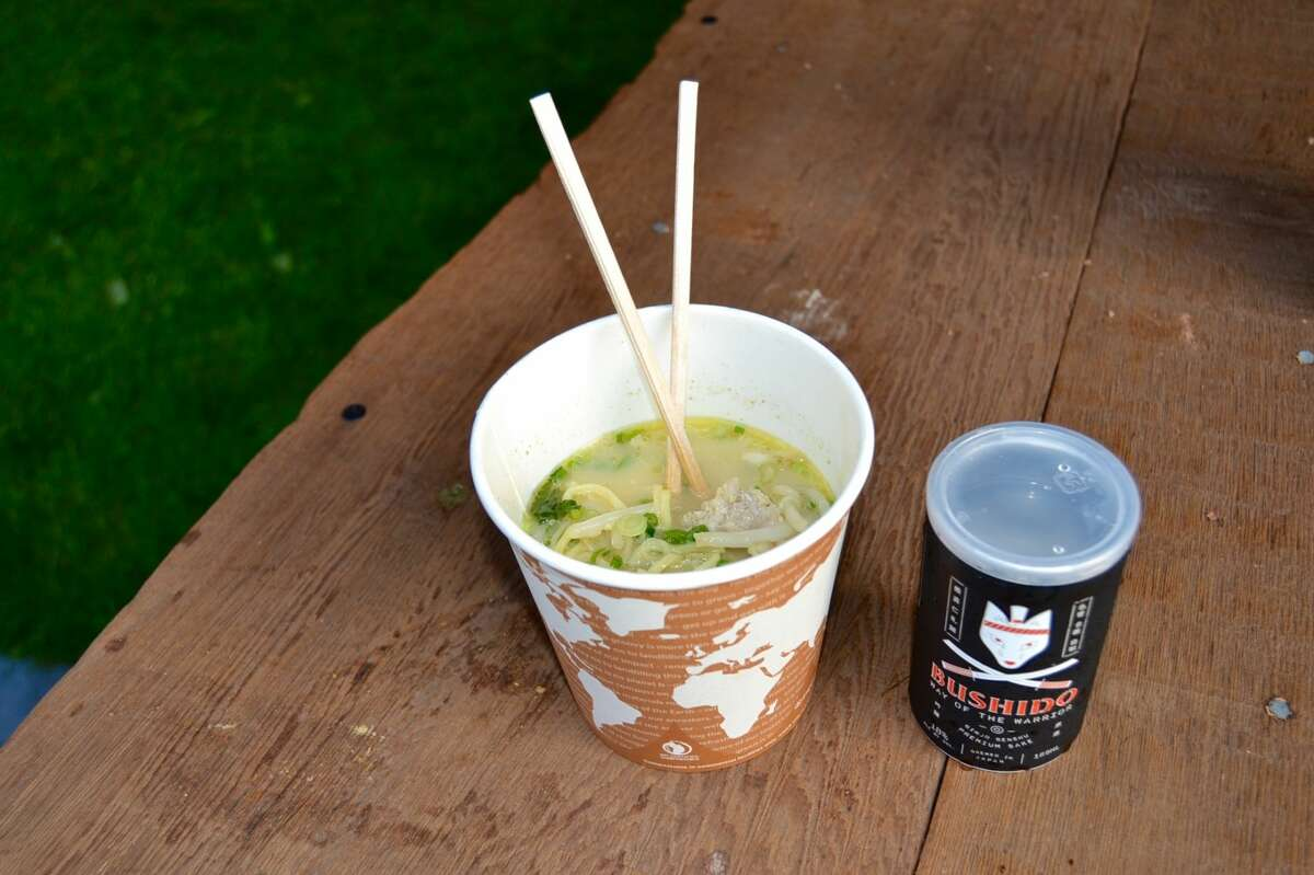 Pair Itani's chicken ramen with a can of Bushido sake at Outside Lands this year.