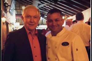 A photo of AG Jeff Sessions at the restaurant was posted on the now deleted social accounts of El Tiempo Cantina Friday.