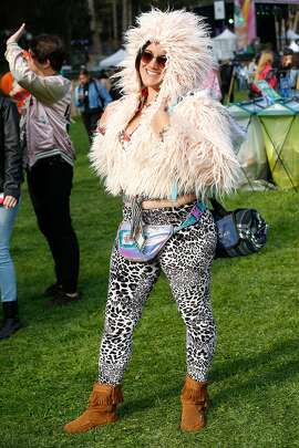 Margaret Murillo shows off her style at Outside Lands Music Festival on Friday, August, 2018 in San Francisco, Calif.