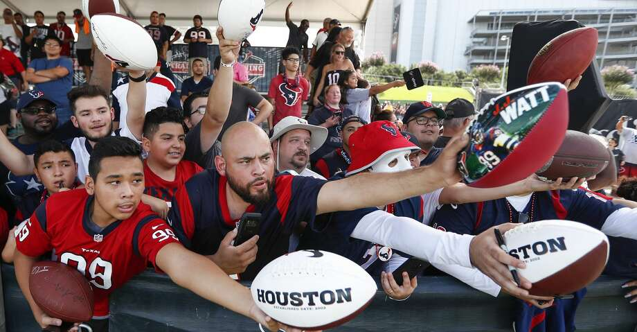 PHOTOS: Texans training camp Houston Texans fans reach out seeking autographs following practice during training camp at the Methodist Training Center on Saturday, Aug. 11, 2018, in Houston. Browse through the photos to see action from the Texans' return to camp at the Methodist Training Center. Photo: Brett Coomer/Houston Chronicle