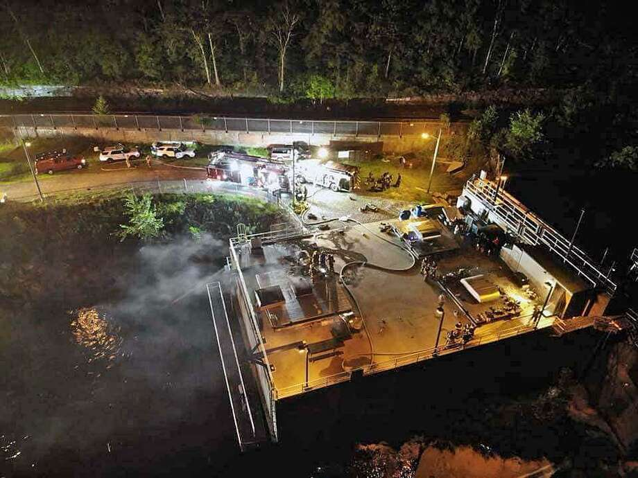 Fire units from Shelton's Echo Hose Hook & Ladder Co. 1 were dispatched tot he Hydro Power Plant at 305 Canal Street in Shelton, Conn., on Thursday, Aug. 9, 2018. Photo: Contributed Photo / Echo Hose Hook & Ladder Co. 1 / Contributed Photo / Connecticut Post Contributed