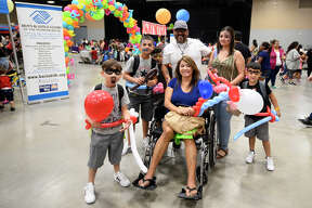 Family Fun Day by Boys And Girls Club of Midland featuring a backpack and school supply giveaway, childrens activities, and car show, Aug. 11, 2018, at Horseshoe Pavilion. James Durbin/Reporter-Telegram