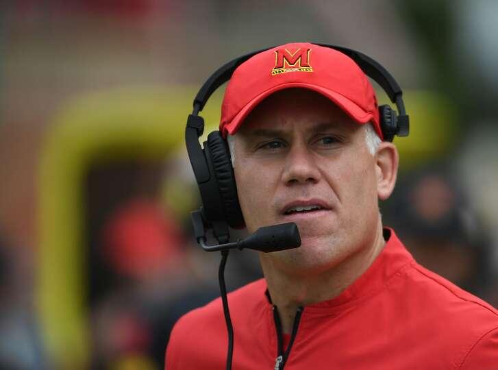 Head football coach DJ Durkin is under fire at Maryland. MUST CREDIT: Washington Post photo by Jonathan Newton