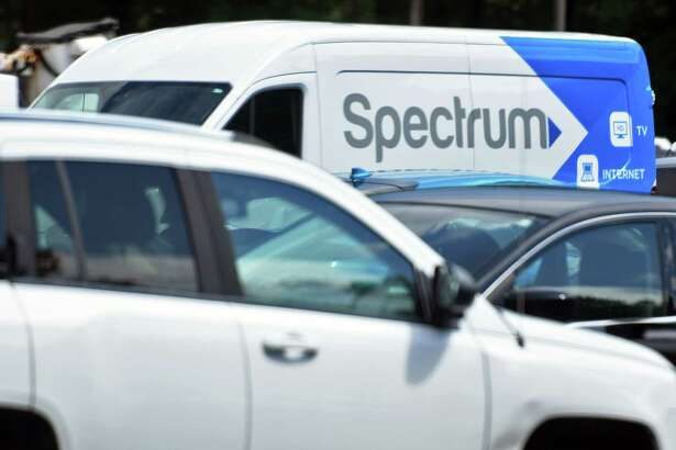 A Spectrum truck in the parking lot of their offices on Highbridge Road Friday July 27, 2018 in Schenectady, NY. (John Carl D'Annibale/Times Union)