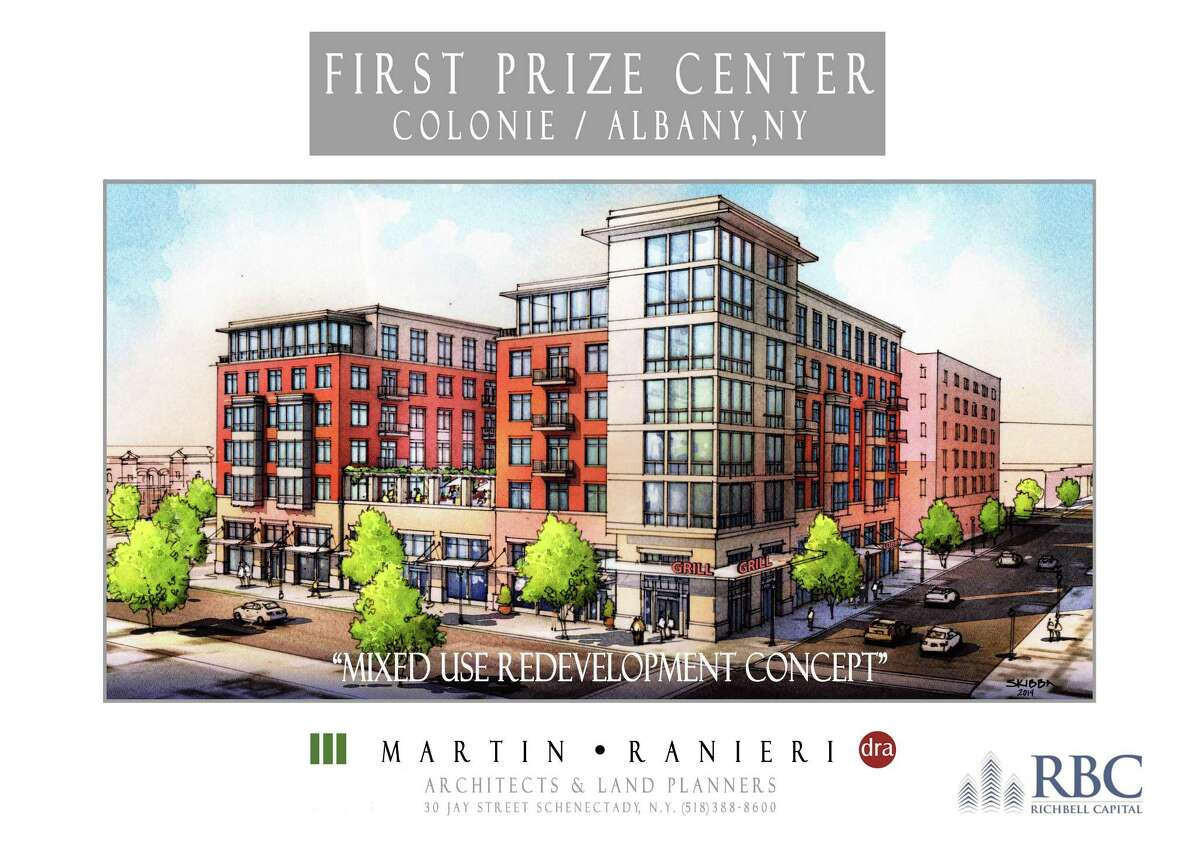 A rendering of the proposed mixed-use property at the former Tobin First Prize plant.