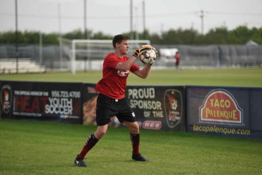 Laredo Heat goalkeeper Brandon Barnes signed a professional contract with the Richmond Kickers of the United Soccer League. Photo: Christian Alejandro Ocampo /Laredo Morning Times File