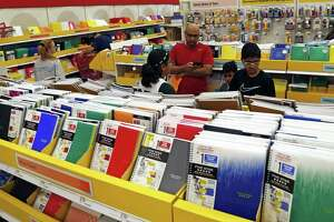 Shoppers piled into stores, such as Target, on Aug. 11, 2018, during the statewide tax-free weekend, which takes place annually before the start of school. The tax-free weekend ends Sunday.