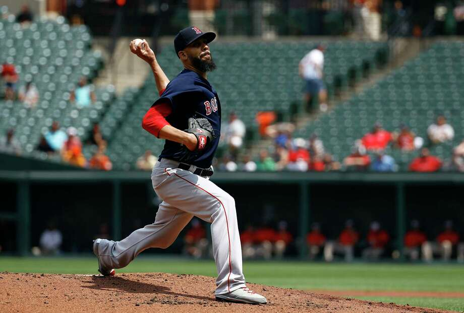 Boston Red Sox starting pitcher David Price throws to the Baltimore Orioles in the first inning of the first baseball game of a doubleheader, Saturday, Aug. 11, 2018, in Baltimore. (AP Photo/Patrick Semansky) Photo: Patrick Semansky / Copyright 2018 The Associated Press. All rights reserved.
