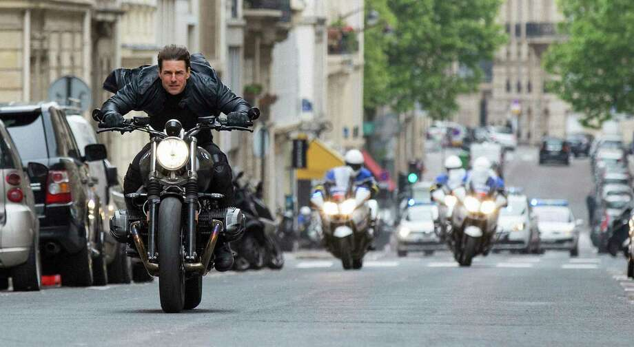 """This image released by Paramount Pictures shows Tom Cruise in a scene from """"Mission: Impossible - Fallout."""" (Chiabella James/Paramount Pictures and Skydance via AP) Photo: Chiabella James / © 2018 Paramount Pictures. All rights reserved."""