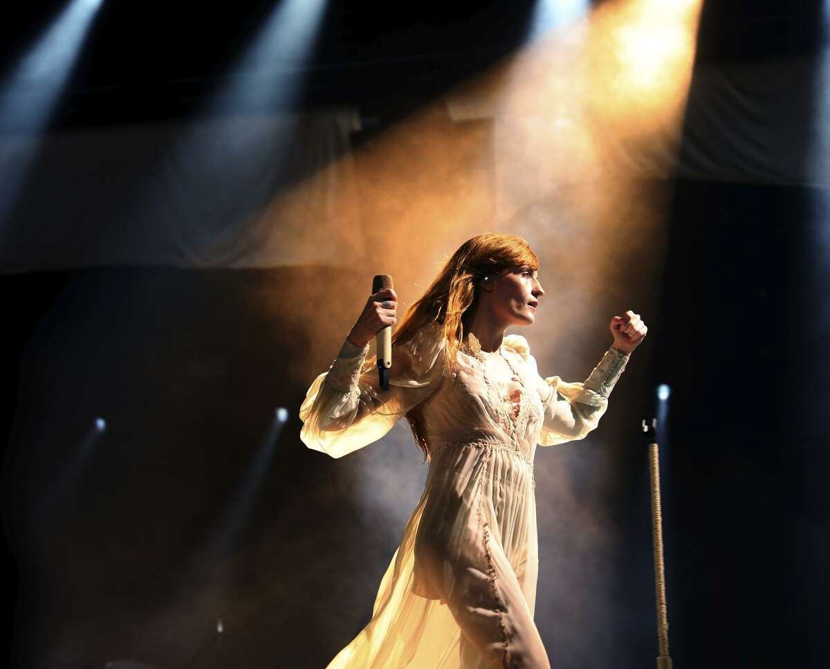 Above: British rock group Florence + the Machine, with vocalist Florence Welch, closes out the second day of the Outside Lands Music and Arts Festival.