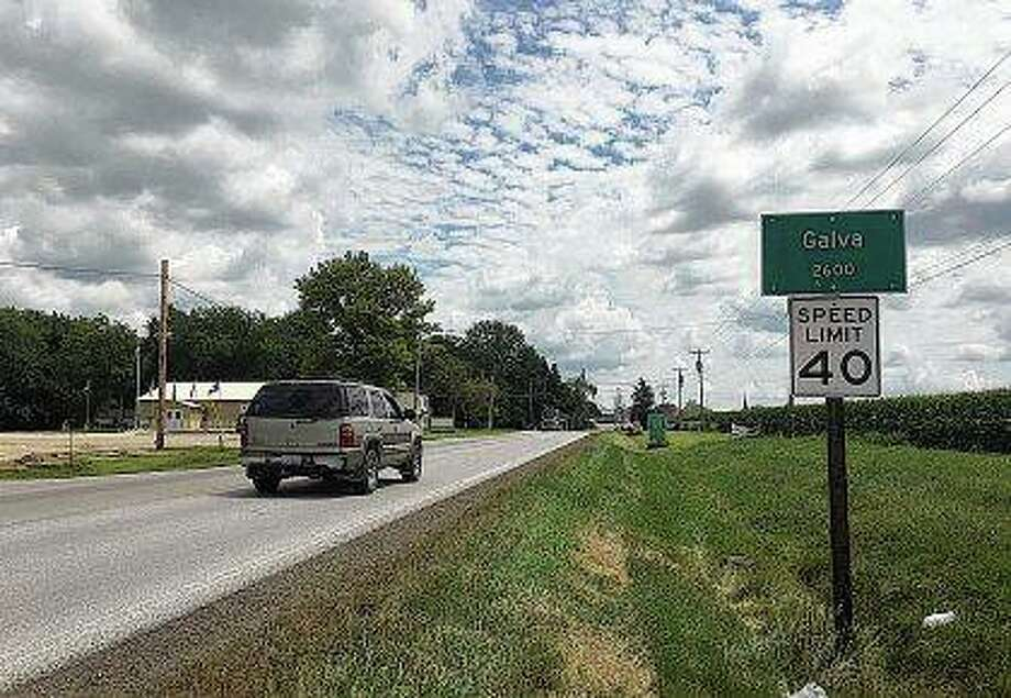 A sign marks the city limits of Galva in southern Henry County. The city is divided over the June 19 fatal shooting of 19-year-old Xavier Hartman by James Love after a traffic crash near Love's property. Photo:       Tom Loewy | Register-Mail (AP)